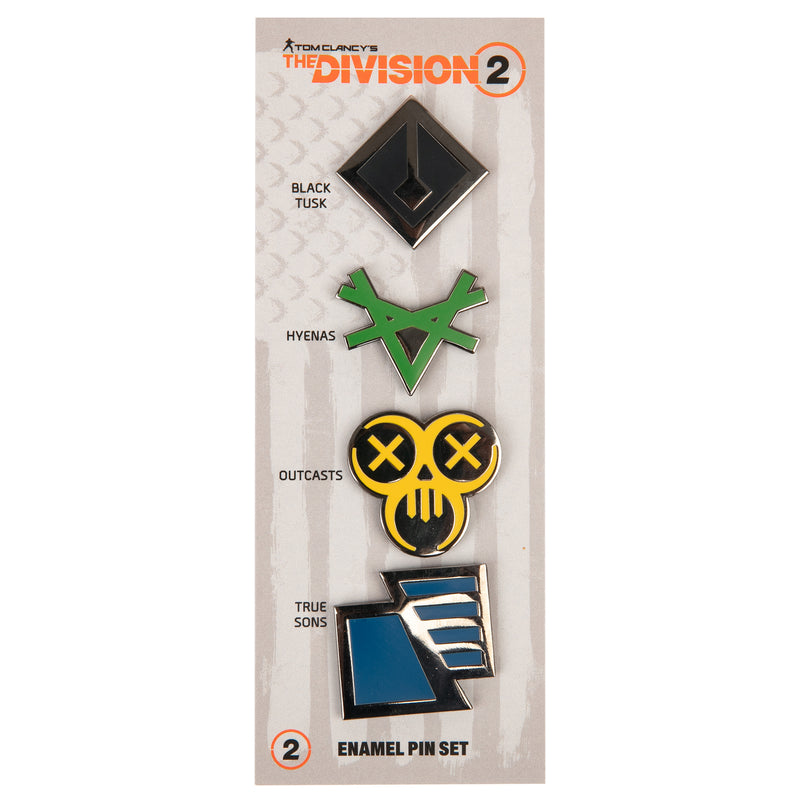View 2 of The Division 2 Factions Enamel Pin Set photo.