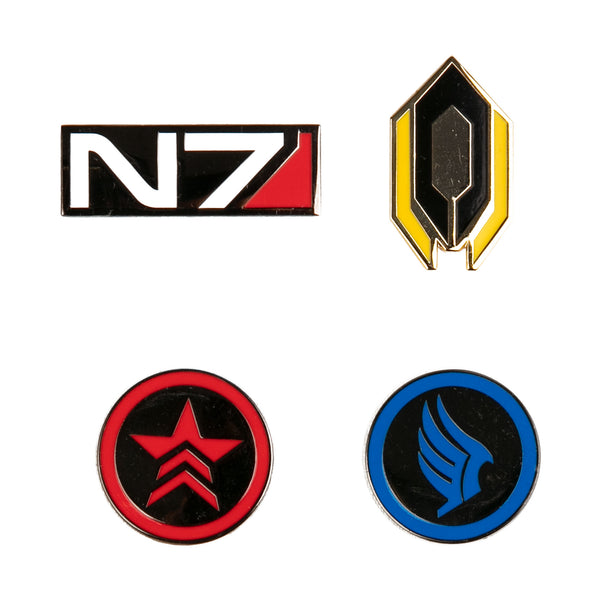 View 1 of Mass Effect Agent Enamel Pin Set photo. primary photo.