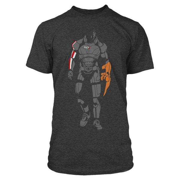 View 1 of Mass Effect Minimalist Shepard Premium Tee photo. primary photo.