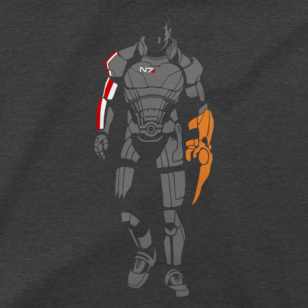 View 2 of Mass Effect Minimalist Shepard Premium Tee photo. alternate photo.