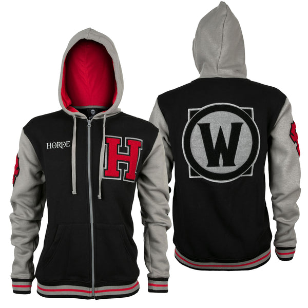 View 1 of World of Warcraft Horde Varsity Hoodie photo. primary photo.