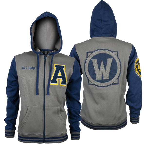 View 1 of World of Warcraft Alliance Varsity Hoodie photo. primary photo.