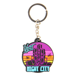 View 1 of Cyberpunk 2077 Visit Night City Keychain photo.