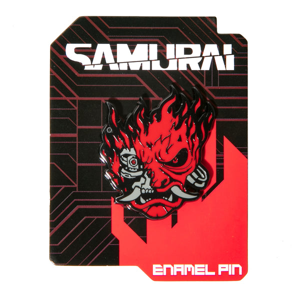 View 2 of Cyberpunk 2077 Samurai Demon Pin photo. alternate photo.