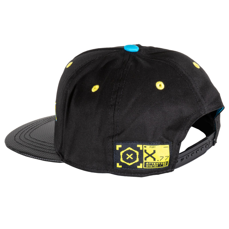 View 2 of Cyberpunk 2077 Logo Snap Back Hat photo.