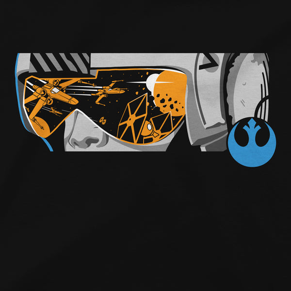 View 2 of Star Wars: Squadrons New Republic Helm Premium Tee photo. alternate photo.
