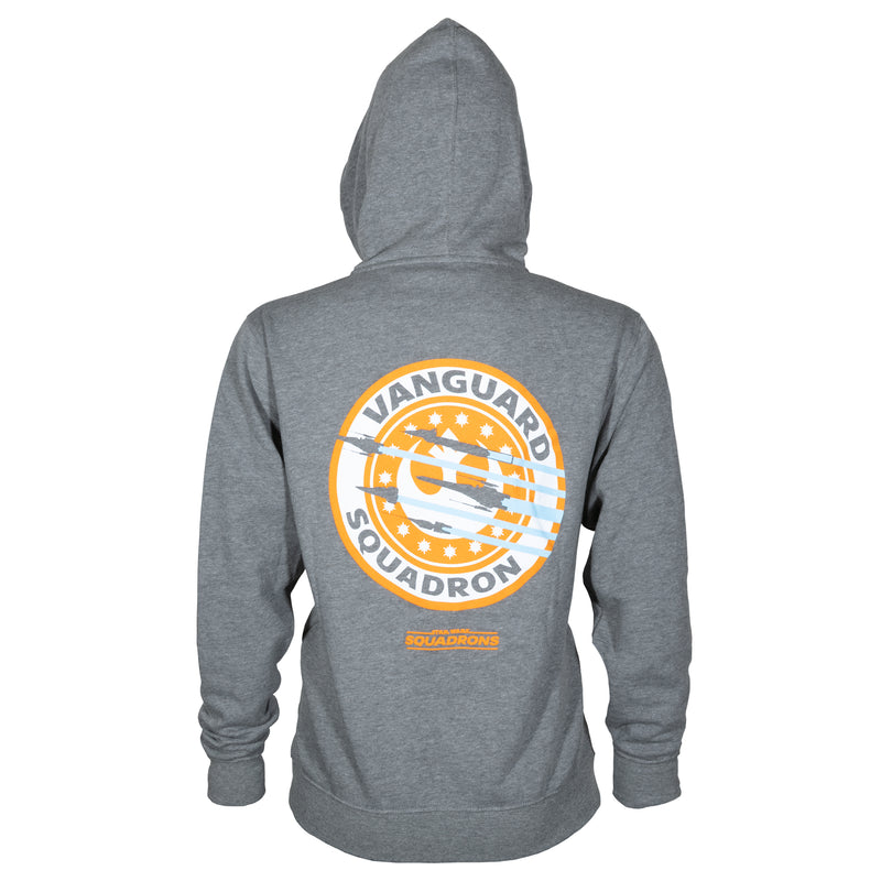 View 1 of Star Wars: Squadrons Vanguard Squadron Zip-Up Hoodie photo.