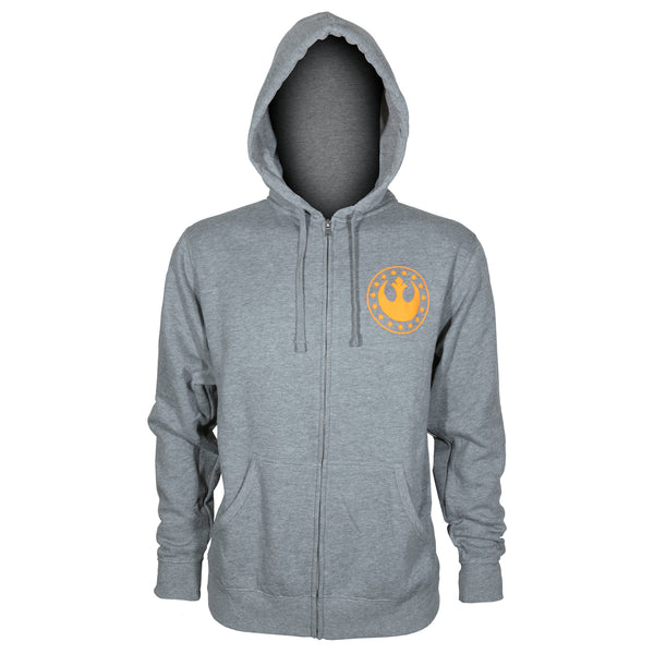 View 2 of Star Wars: Squadrons Vanguard Squadron Zip-Up Hoodie photo. alternate photo.