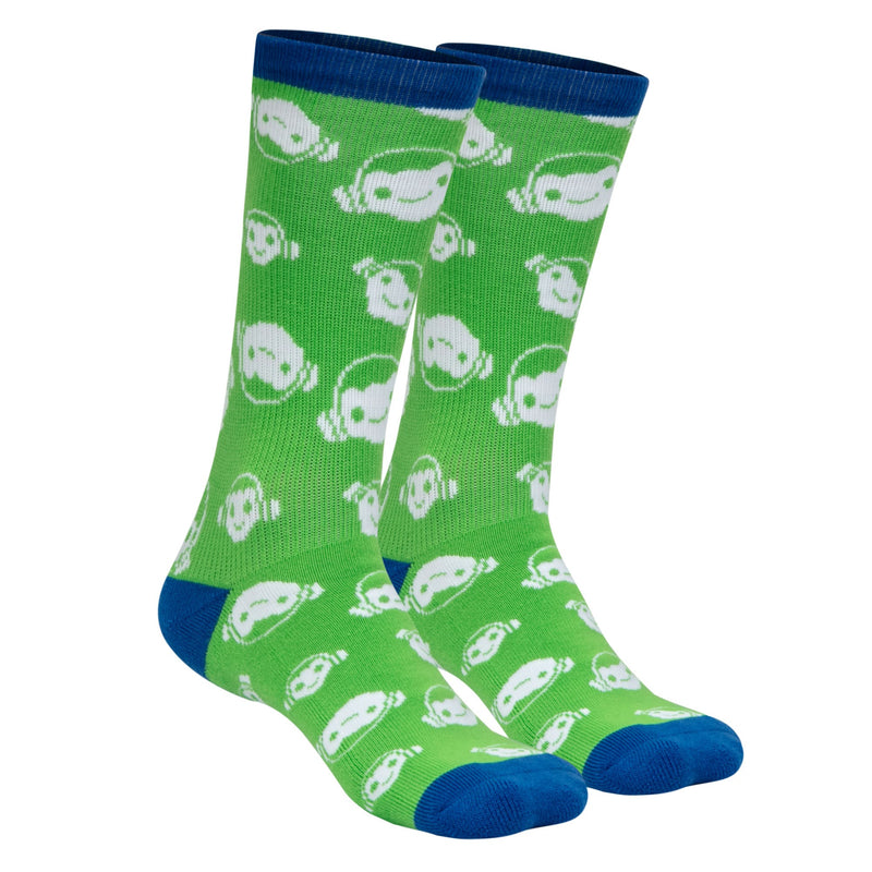 View 1 of Overwatch Feeling Froggy Socks photo.