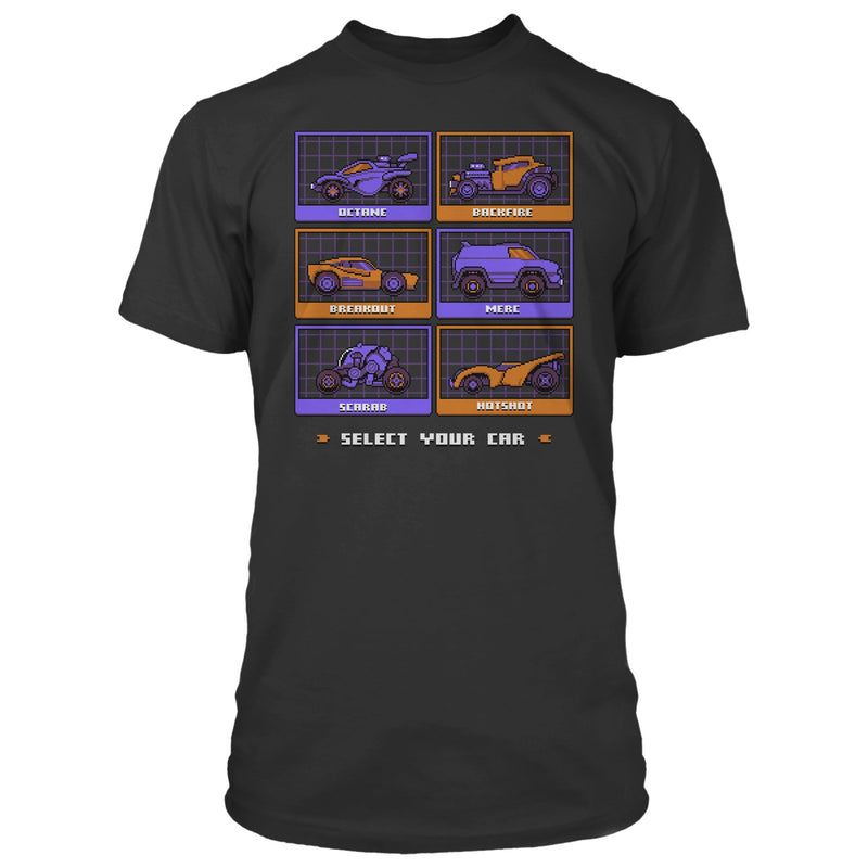 View 1 of Rocket League Pixel Cars Premium Tee photo.