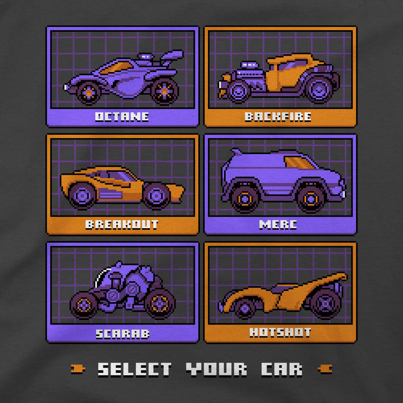 View 2 of Rocket League Pixel Cars Premium Tee photo.