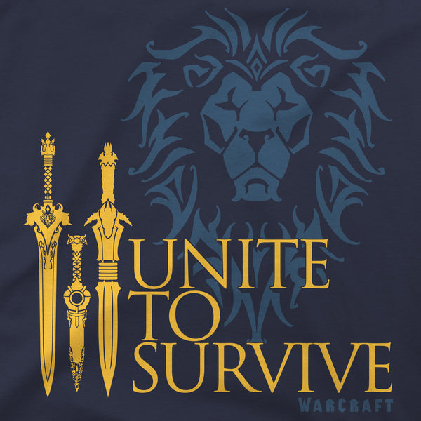 View 2 of Warcraft Movie Unite to Survive Premium Tee photo. alternate photo.