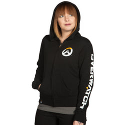 View 1 of Overwatch Logo Women's Zip-Up Hoodie photo.
