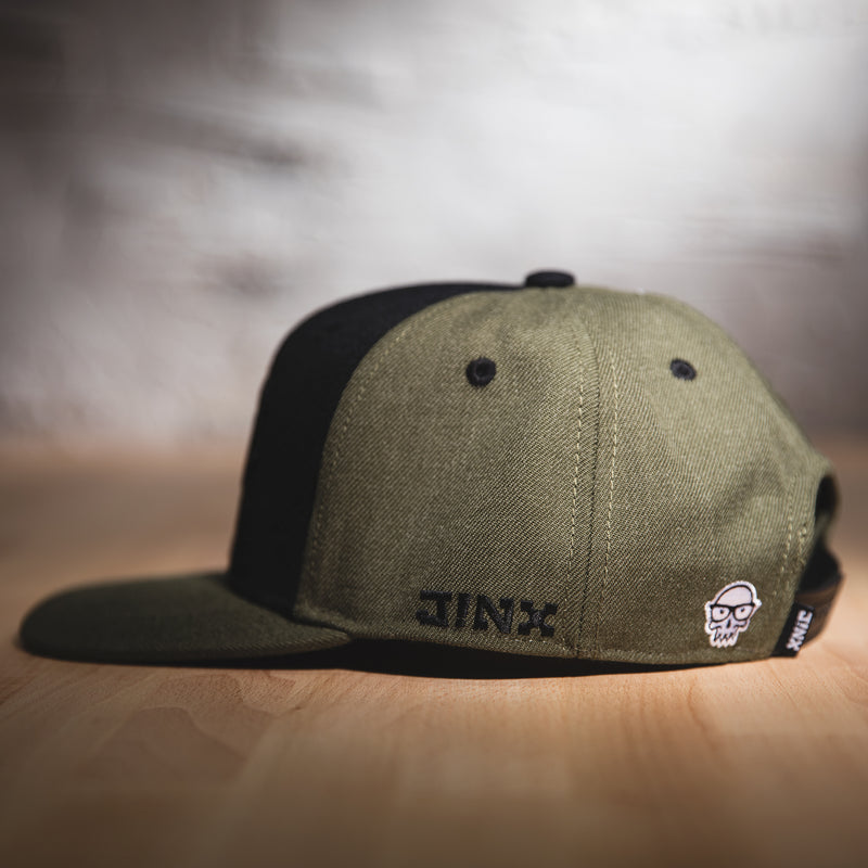 View 2 of J!NX Camo Premium Snap Back Hat photo.