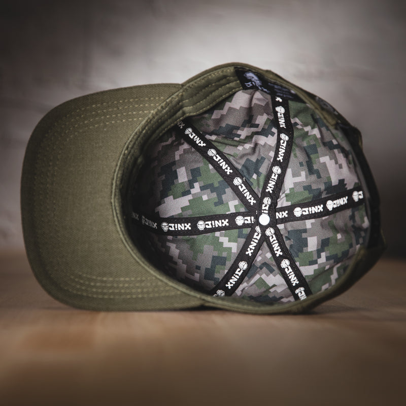 View 3 of J!NX Camo Premium Snap Back Hat photo.