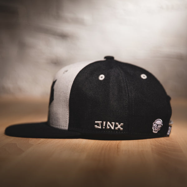 View 2 of J!NX Camo Premium Snap Back Hat photo. alternate photo.