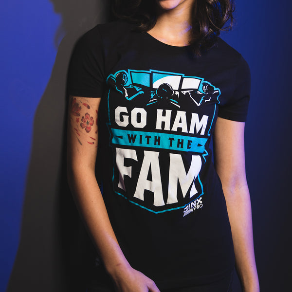View 2 of J!NX Pro Go Ham Women's Tee photo. alternate photo.