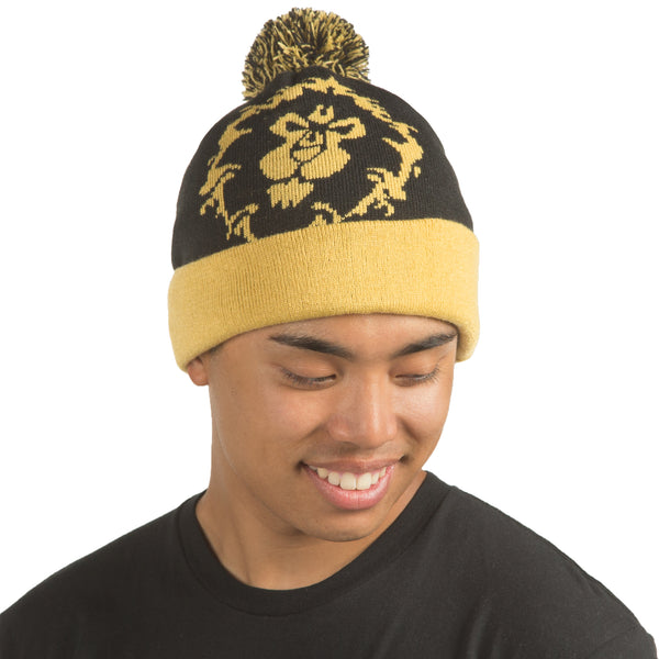 View 2 of World of Warcraft Alliance Pom Beanie photo. alternate photo.