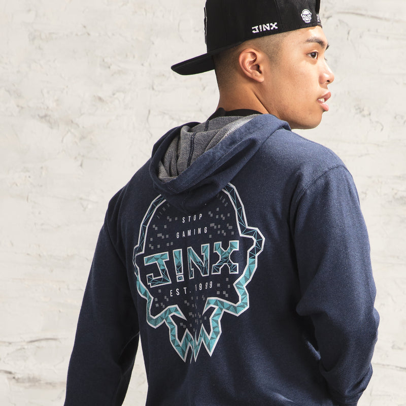 View 4 of J!NX Poly Frame Unisex Zip-Up Hoodie photo.