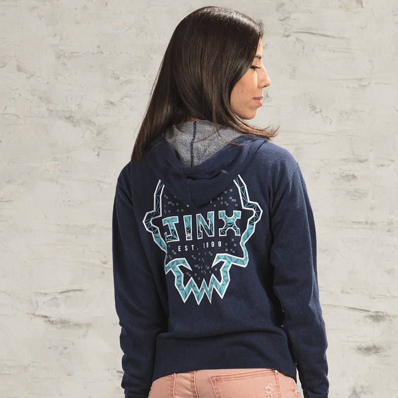 View 6 of J!NX Poly Frame Unisex Zip-Up Hoodie photo.