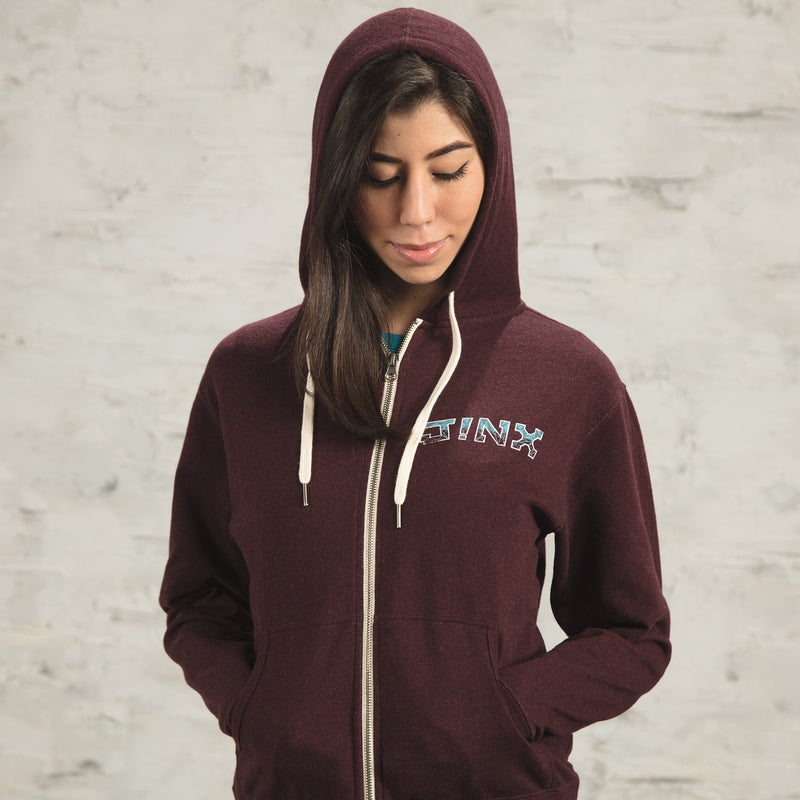 View 5 of J!NX Poly Frame Unisex Zip-Up Hoodie photo.