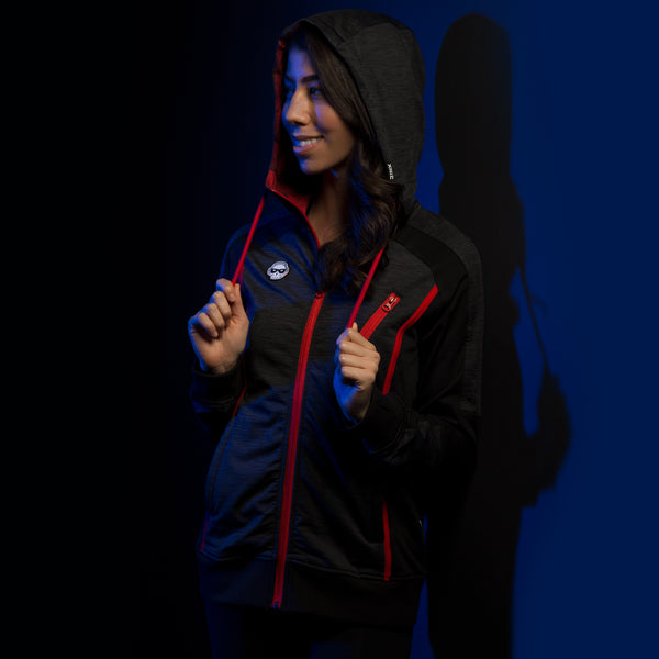 View 1 of J!NX Pro Full Render Women's Warm-Up Jacket photo. primary photo.