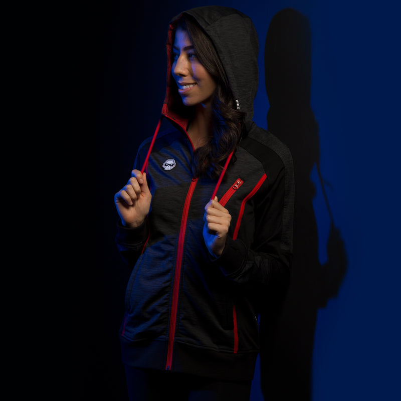 View 1 of J!NX Pro Full Render Women's Warm-Up Jacket photo.