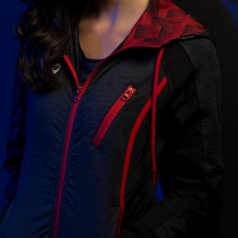 View 2 of J!NX Pro Full Render Women's Warm-Up Jacket photo.