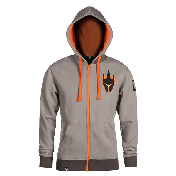 View 2 of Overwatch Ultimate Reinhardt Zip-Up Hoodie photo. alternate photo.