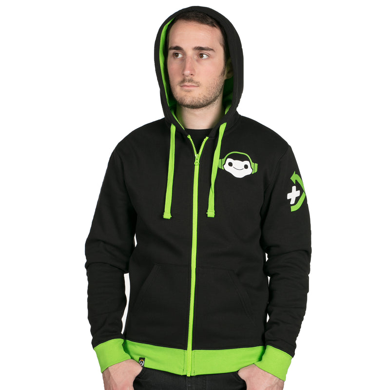 View 4 of Overwatch Ultimate Lucio Zip-Up Hoodie photo.