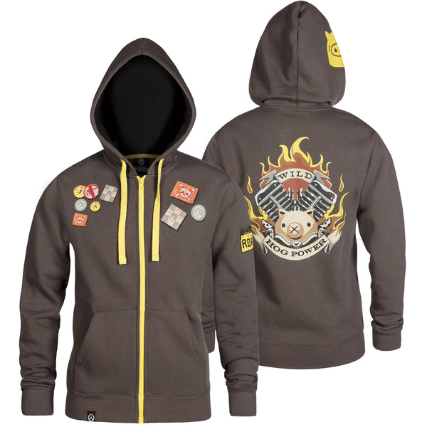 View 1 of Overwatch Ultimate Roadhog Zip-Up Hoodie photo. primary photo.