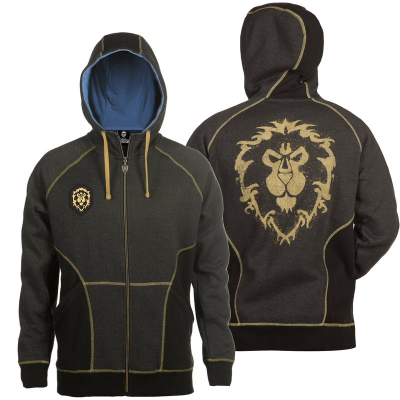 View 1 of World of Warcraft Alliance Classic Premium Zip-Up Hoodie photo.