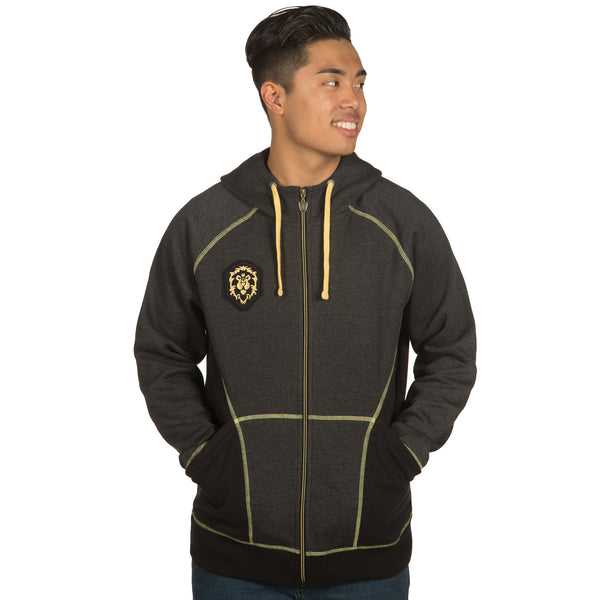 View 2 of World of Warcraft Alliance Classic Premium Zip-Up Hoodie photo. alternate photo.