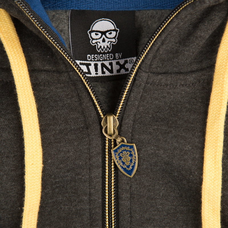 View 3 of World of Warcraft Alliance Classic Premium Zip-Up Hoodie photo.