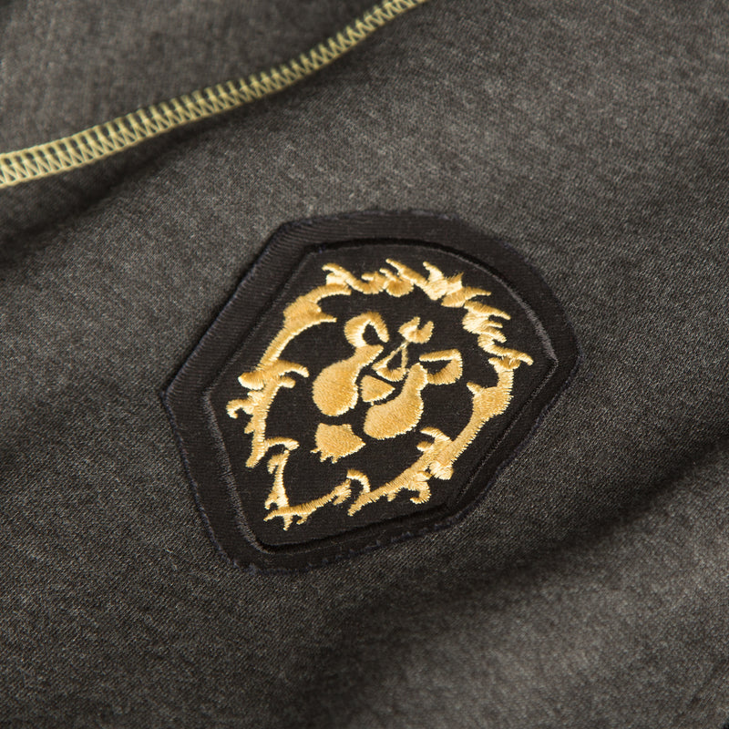 View 4 of World of Warcraft Alliance Classic Premium Zip-Up Hoodie photo.