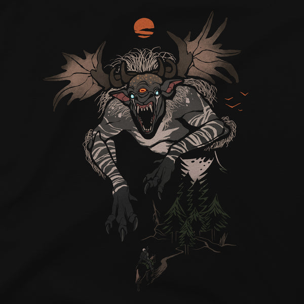 View 2 of The Witcher 3 Fiend Forest Premium Tee photo. alternate photo.