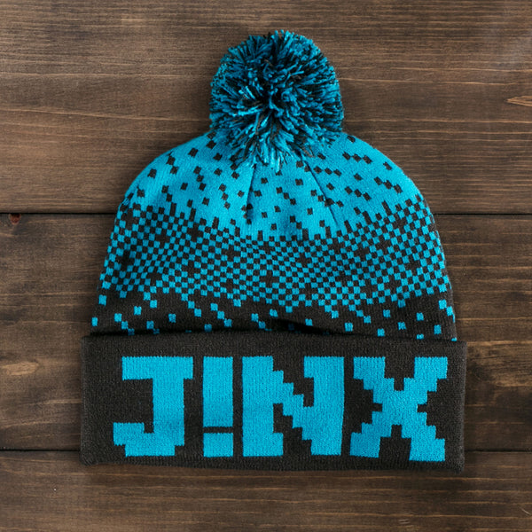 View 1 of J!NX Dither Pom Beanie photo. primary photo.