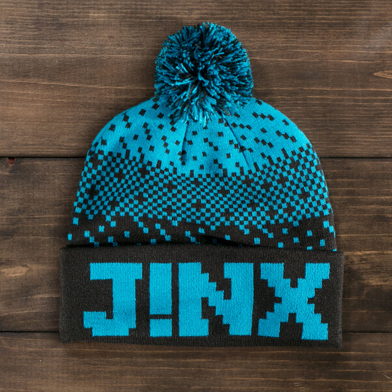 View 1 of J!NX Dither Pom Beanie photo.
