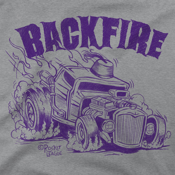 View 2 of Rocket League Backfire Premium Tee photo. alternate photo.