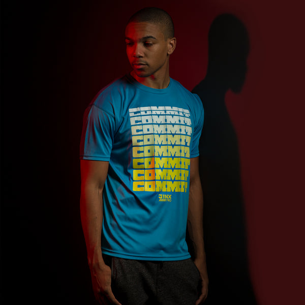 View 1 of J!NX Pro Stacked Men's Performance Tee photo. primary photo.