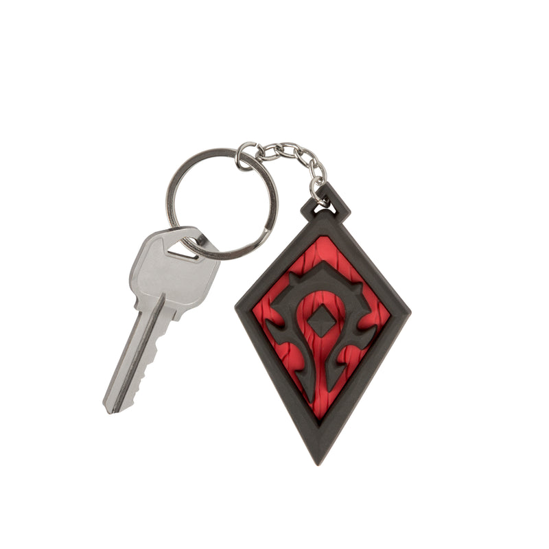 For the Horde Keychain World of Warcraft Inspired Keychain Horde Round Keychain