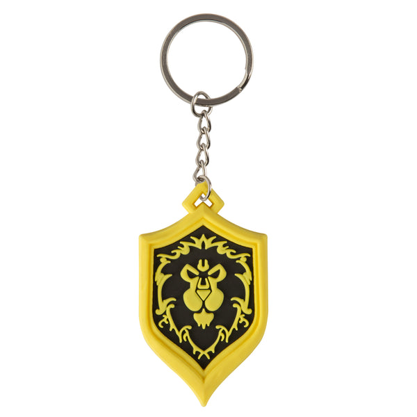View 1 of World of Warcraft Alliance Pride Keychain photo. primary photo.