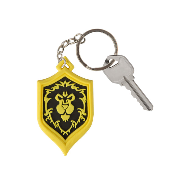 View 2 of World of Warcraft Alliance Pride Keychain photo. alternate photo.