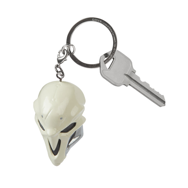 View 2 of Overwatch Reaper Mask 3D Keychain photo. alternate photo.