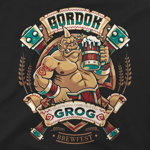 View 2 of World of Warcraft Gordok Grog Brewfest Premium Tee photo. alternate photo.