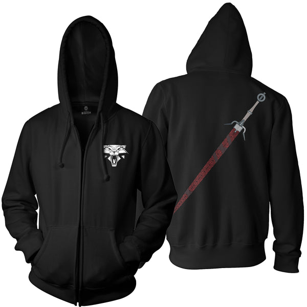 View 1 of The Witcher 3 Zireael Men's Zip-Up Hoodie photo. primary photo.