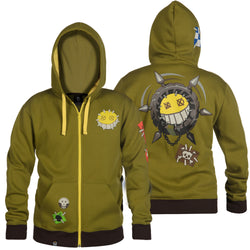 View 1 of Overwatch Ultimate Junkrat Zip-Up Hoodie photo.