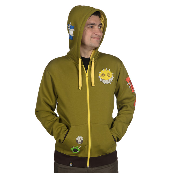 View 2 of Overwatch Ultimate Junkrat Zip-Up Hoodie photo. alternate photo.