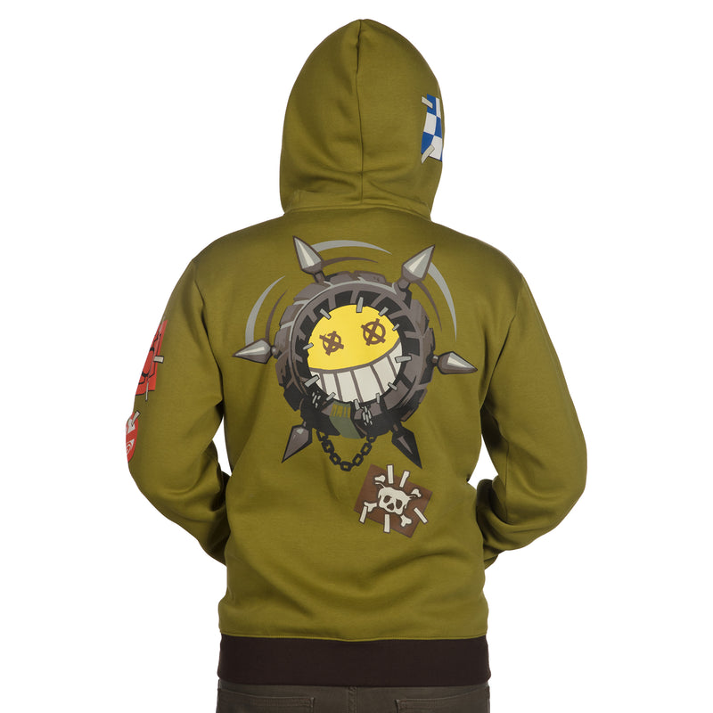 View 3 of Overwatch Ultimate Junkrat Zip-Up Hoodie photo.