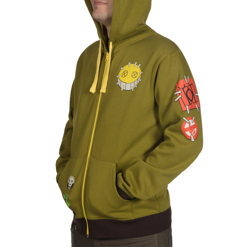 View 4 of Overwatch Ultimate Junkrat Zip-Up Hoodie photo.